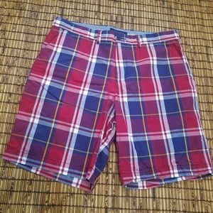 Tommy Hilfiger plaid chino shorts preppy size 36
